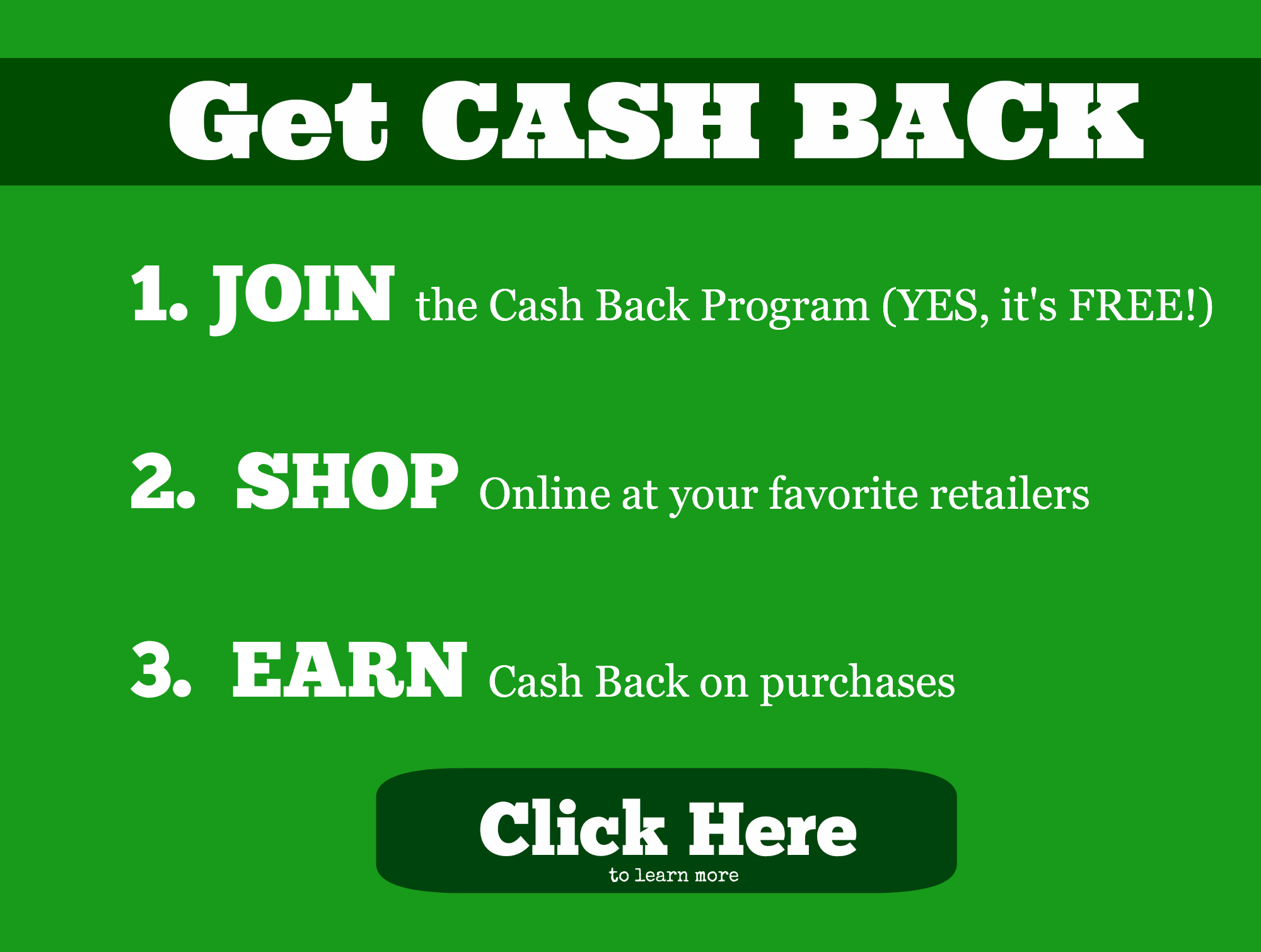Cash Back Rebates